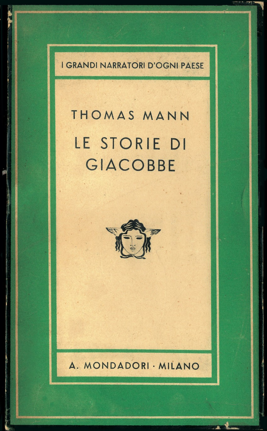 """Cover 23 from the book series Medusa by Arnoldo Mondadori Publishing House, """"The Tales of Jacob"""" by Thomas Mann. Italy, 1933"""