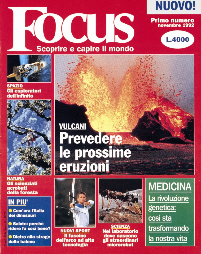 Cover of Focus first issue (November 1992)
