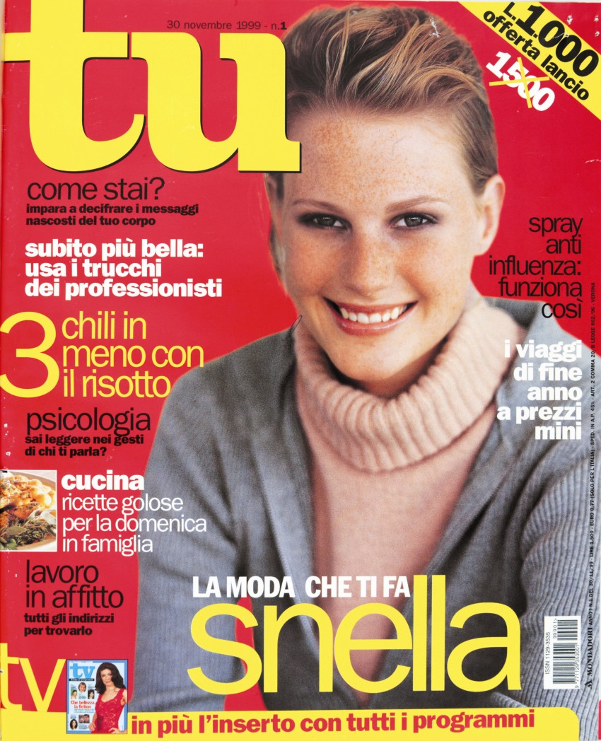 Cover of the first issue of Tu (30 November 1999)