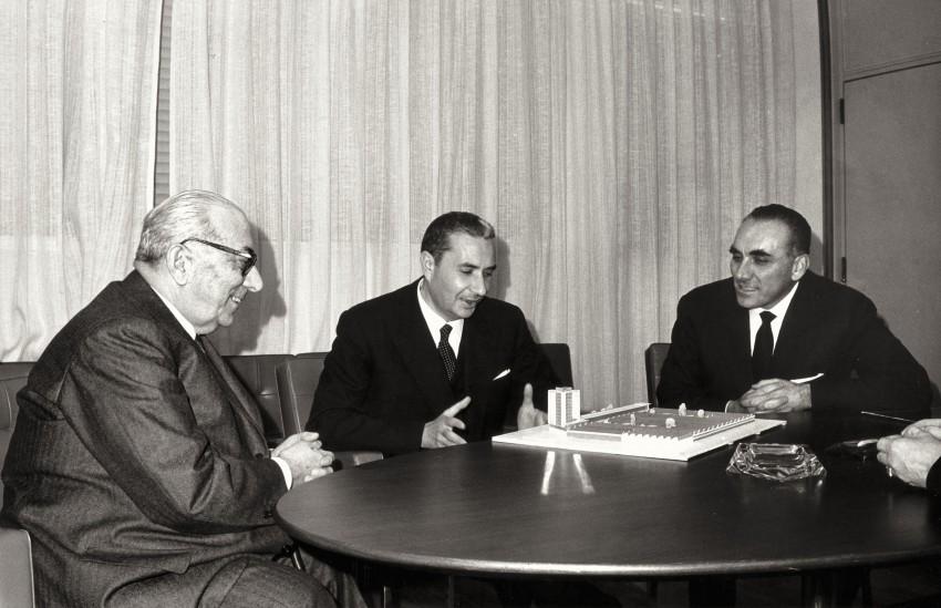Arnoldo Mondadori con Aldo Moro. - Immagine concessa con licenza CC BY-SA 4.0